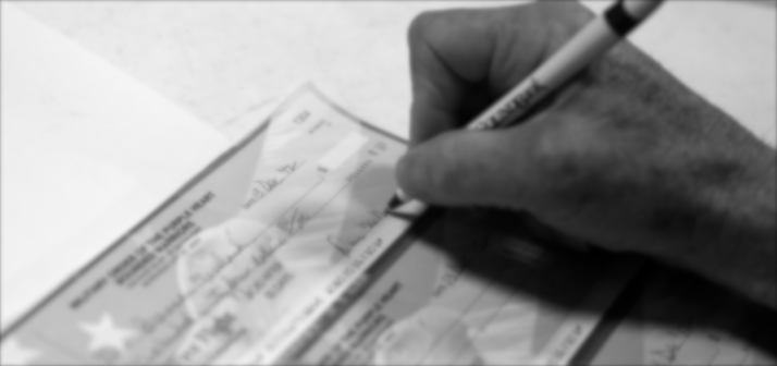 writing an alimony check after divorce